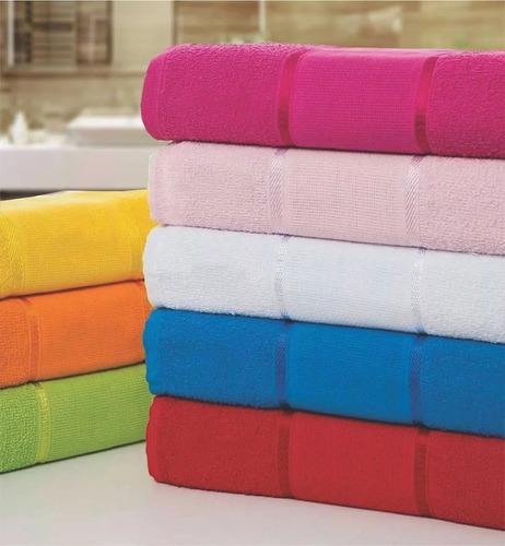 kit com 15 toalhas de banho para bordar brilhante - atacado
