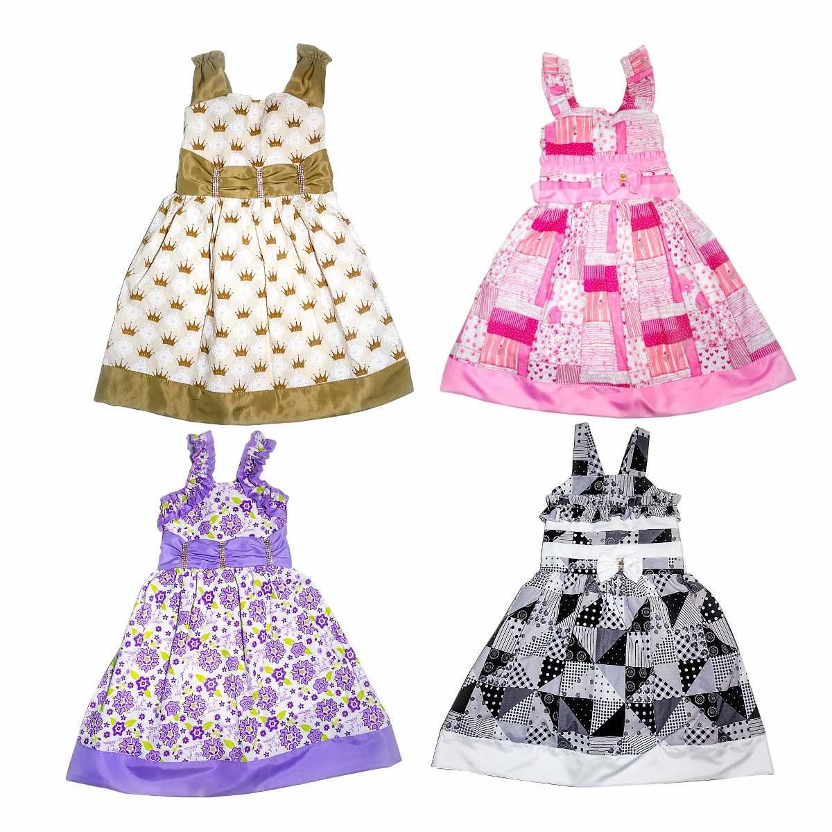 01c438911 Kit Com 15 Vestidos De Festa Infantil Atacado Revenda - R$ 319,99 em ...