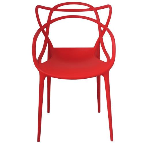 kit com 2 cadeiras masters allegra vermelha