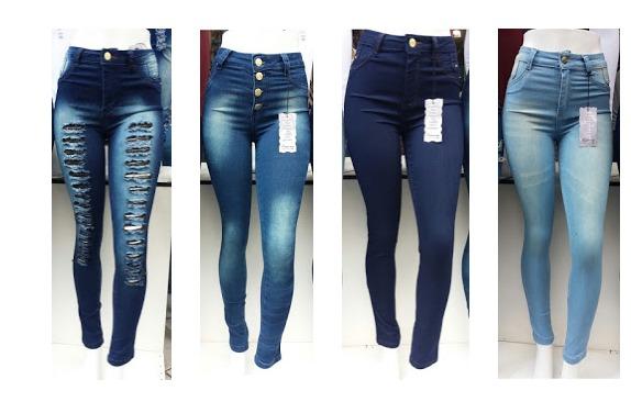 264f75ac4 Kit Com 2 Calças Jeans Femininas Cintura Alta - Promoção - R  123