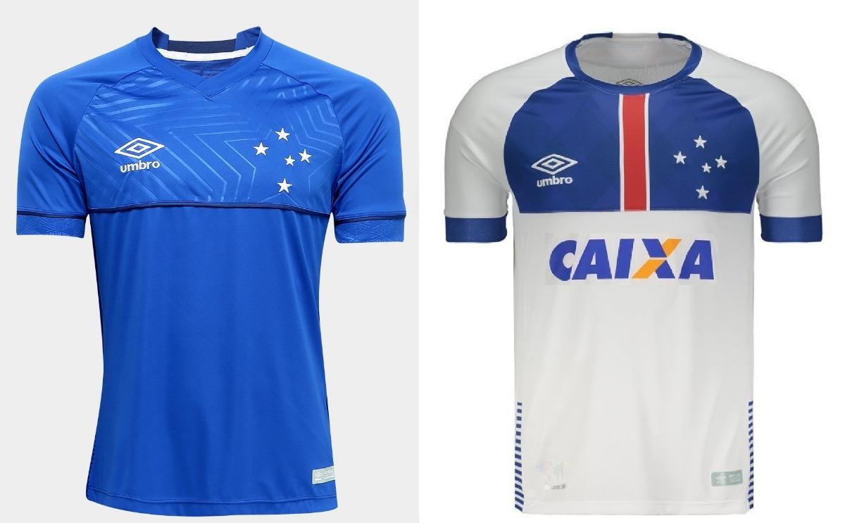 32b7343c99 Kit Com 2 Camisas Cruzeiro 2018 Azul + Branca Frete Grátis - R$ 149 ...