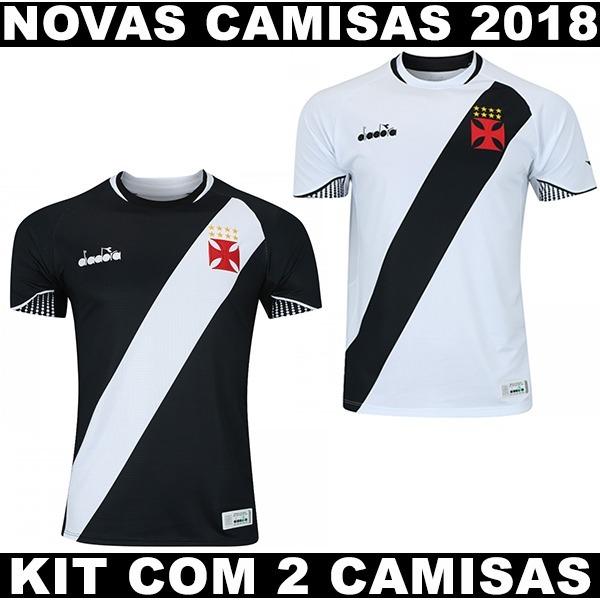 Kit Com 2 Camisas Do Vasco Modelo 2018 Com Frete Gratis - R  122 7e00c0820c563