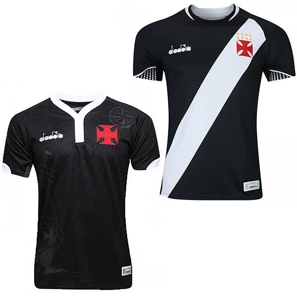 Kit Com 2 Camisas Do Vasco Pretas Modelo 2018 E Frete Gratis - R ... ba20ab668e73a