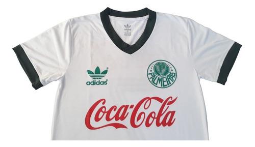 kit com 2 camisas -  palmeiras agip verde + coca branca