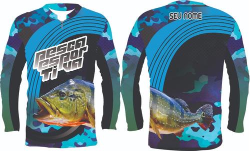 kit com 2 camisas para pesca proteção uv
