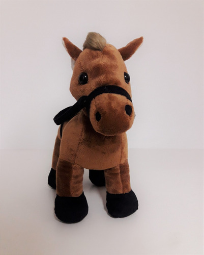 kit com 2 cavalos de pelúcia -  25 cm