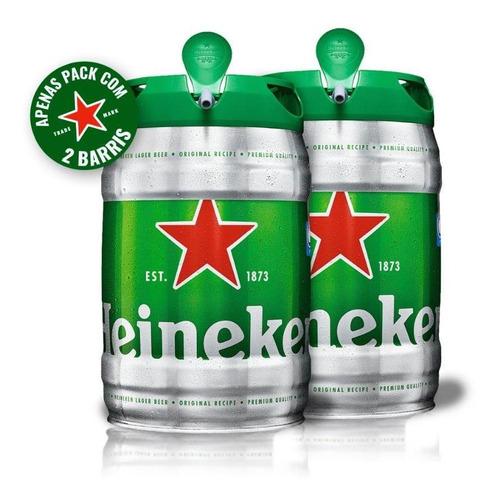 kit com 2 cervejas heineken barril 5 litros