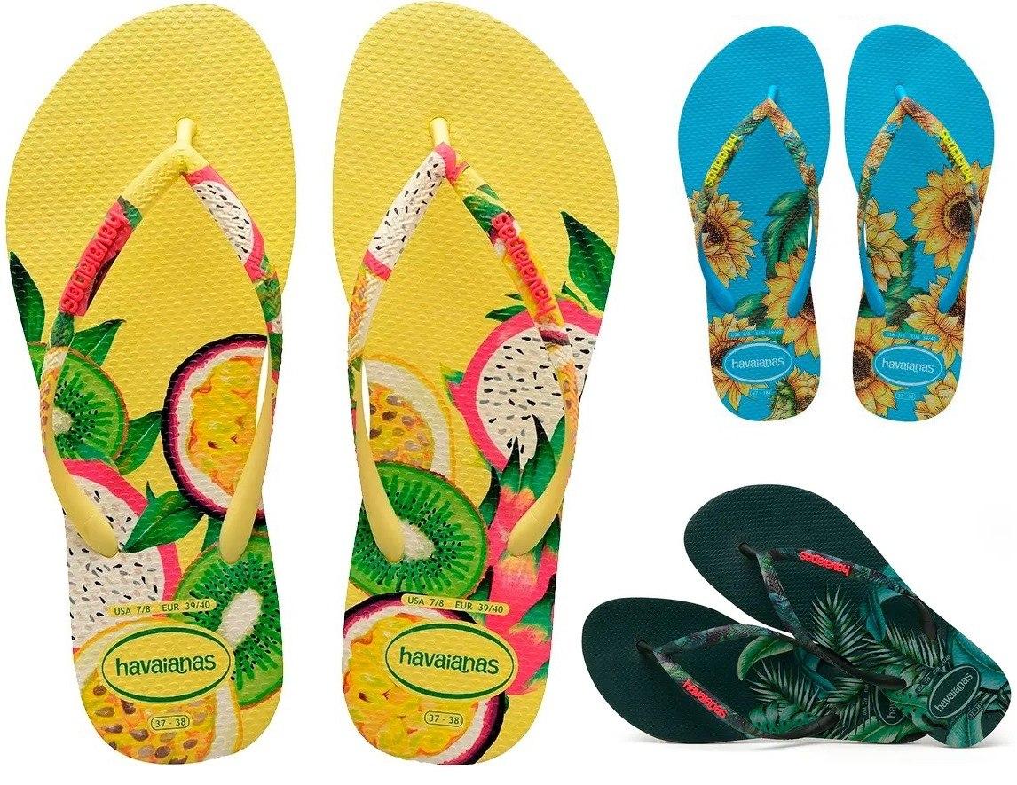d1f39f314 ... chinelos havaianas slim sensation 3 cores original. Carregando zoom.