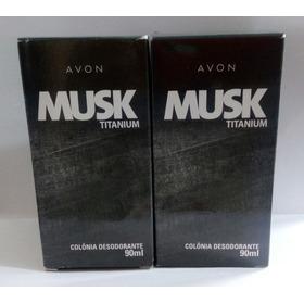 Kit Com 2 Colônias Musk Titanium - Avon - 90ml