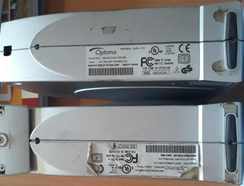 kit com 2 data show optoma modelo ezpro 710