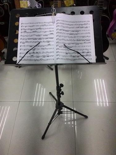 kit com 2 estantes suporte tripé partitura maestro