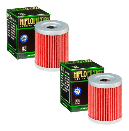 kit com 2 filtros de óleo dafra maxsym 400 hiflofiltro hf132