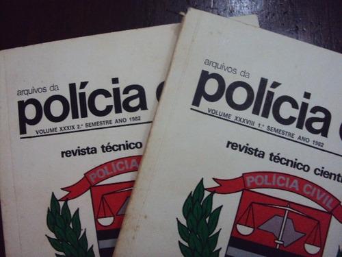 kit com 2 livros do arquivo da policia civil - 1982