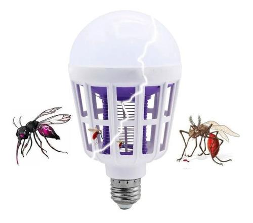 kit com 2 lâmpada led mata mosquito insetos pernilongo 15w