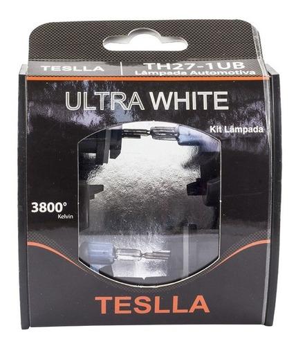 kit com 2 lâmpadas halógenas h27 1ub - ultra branca