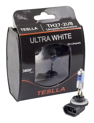 kit com 2 lâmpadas halógenas h27 2ub - ultra branca
