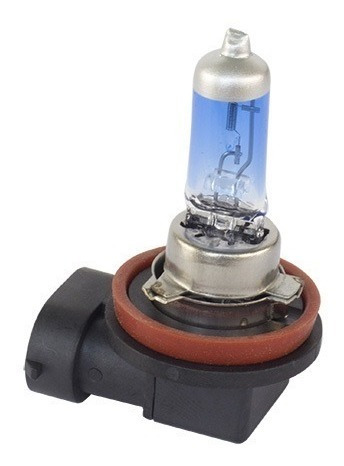 kit com 2 lâmpadas halógenas h8 - ultra branca
