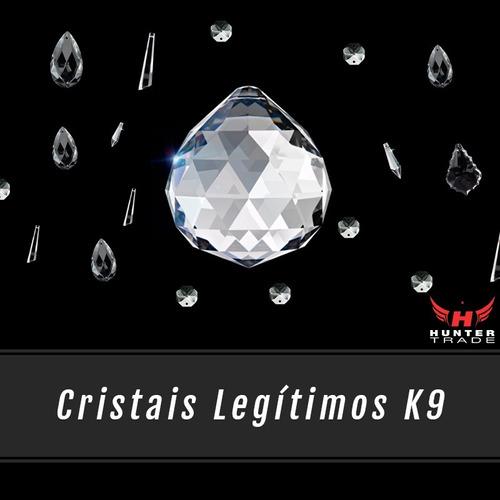 kit com 2 lustres plafon cristal original base aço inox g9