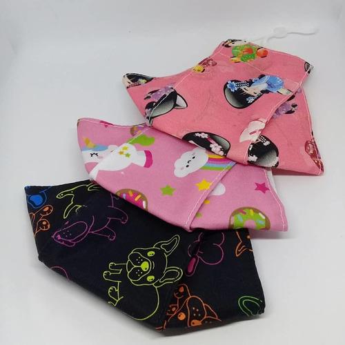 kit com 2 mascaras 3d infantil, juvenil e adulto