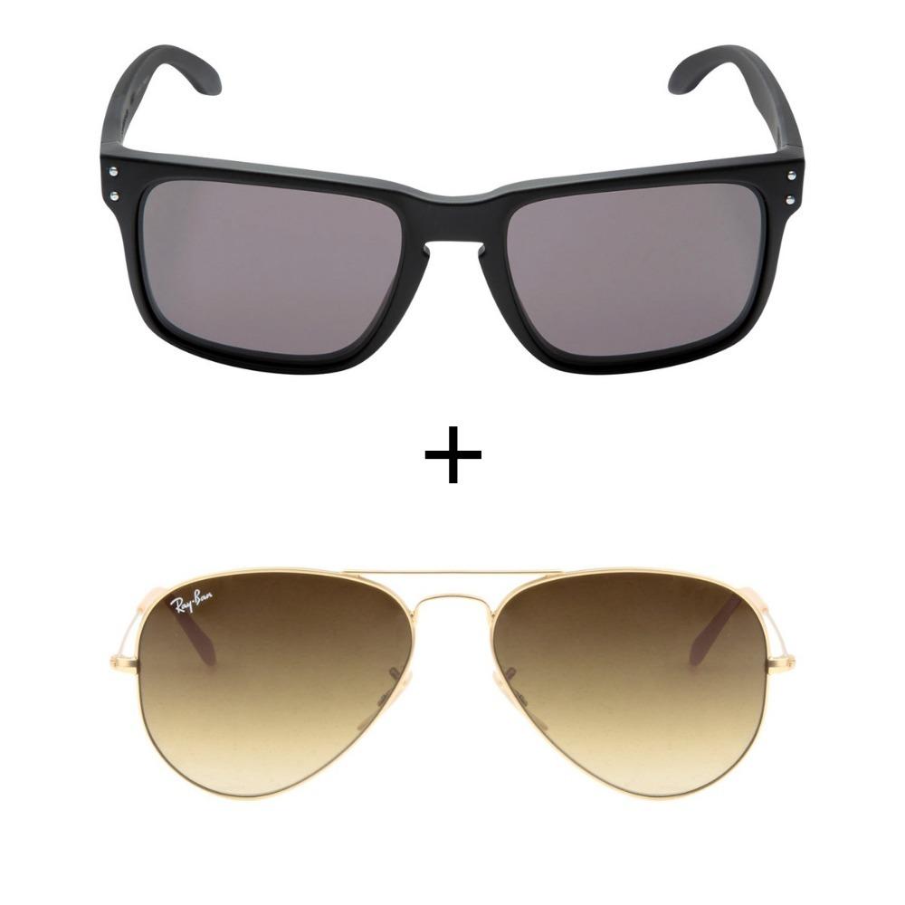 fddb36d092641 Kit Com 2 Oculos De Sol Masculino Feminino Promoçao De Verao - R ...