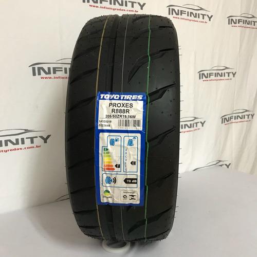 kit com 2 pneu 205/50 r15 toyo r888 r arracada turbo slick