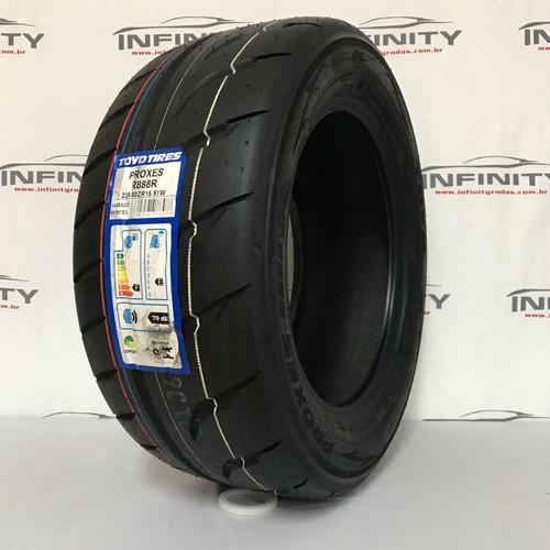kit com 2 pneu 225/50 r15 toyo r888 r turbo slick arracada