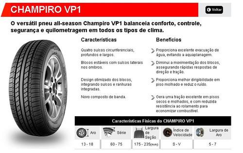 kit com 2 pneus 165/80r13 gt radial champiro vp1 83h