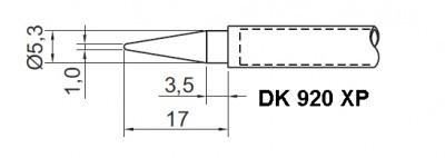 kit com 2 pontas para estação de solda ts-920 toyo ts-920xp