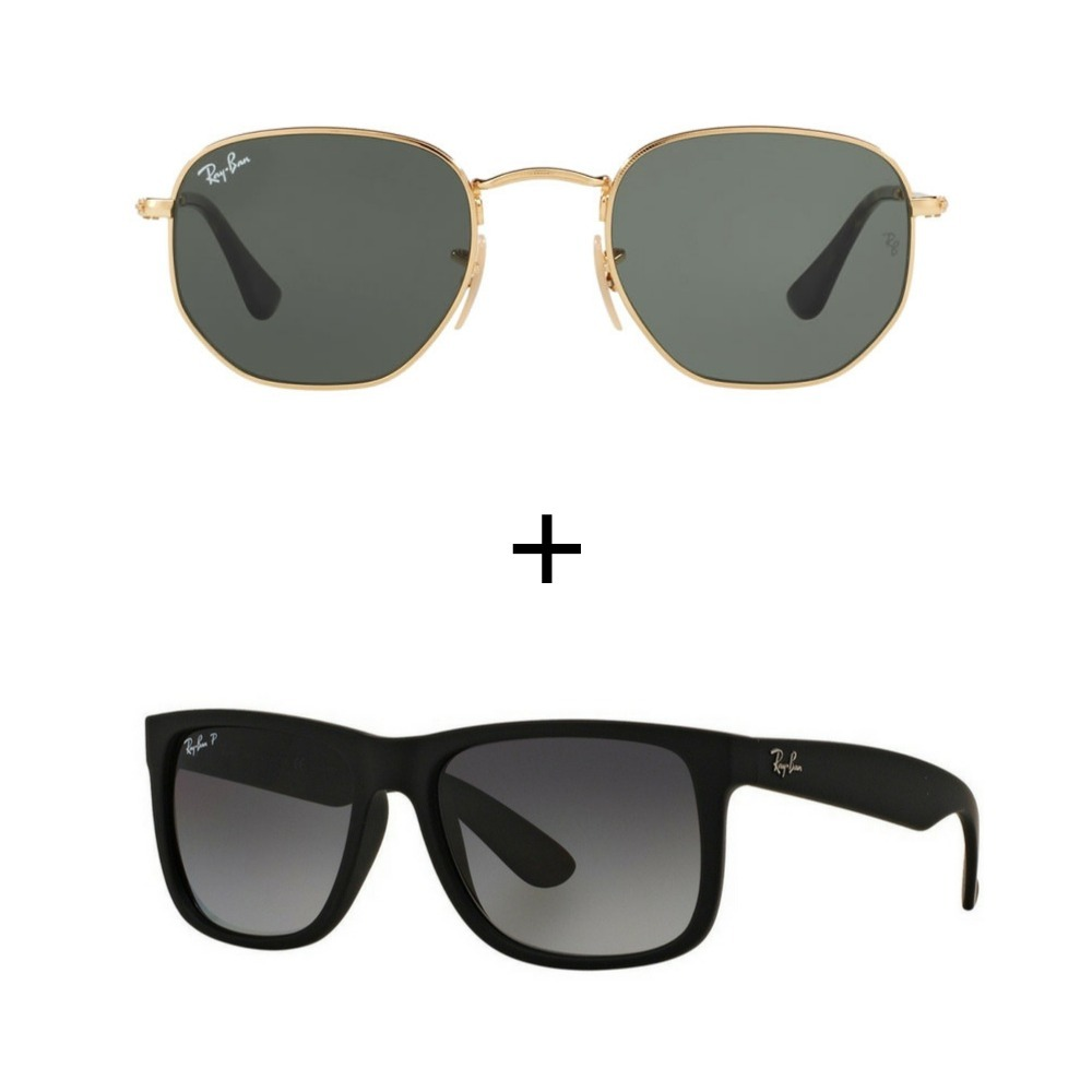 kit com 2 ray-ban oculos de sol masculino feminino promoçao. Carregando  zoom. 114ac5ed45