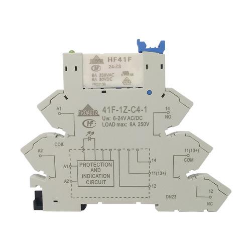 kit com 2 reles de interface 24vac/dc 1 reversível 6a