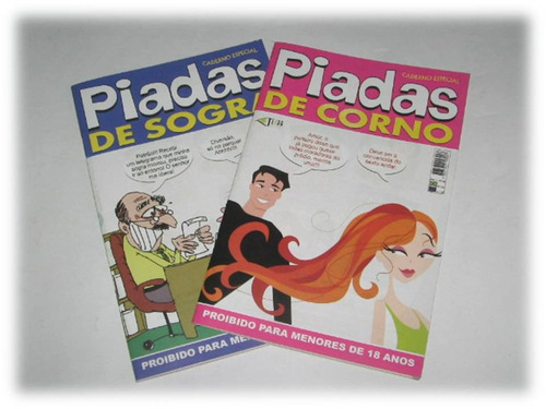kit com 2 revistas de piadas
