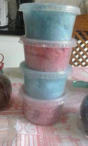 kit com 20 algodão doce no pote 300ml simples sem decoração