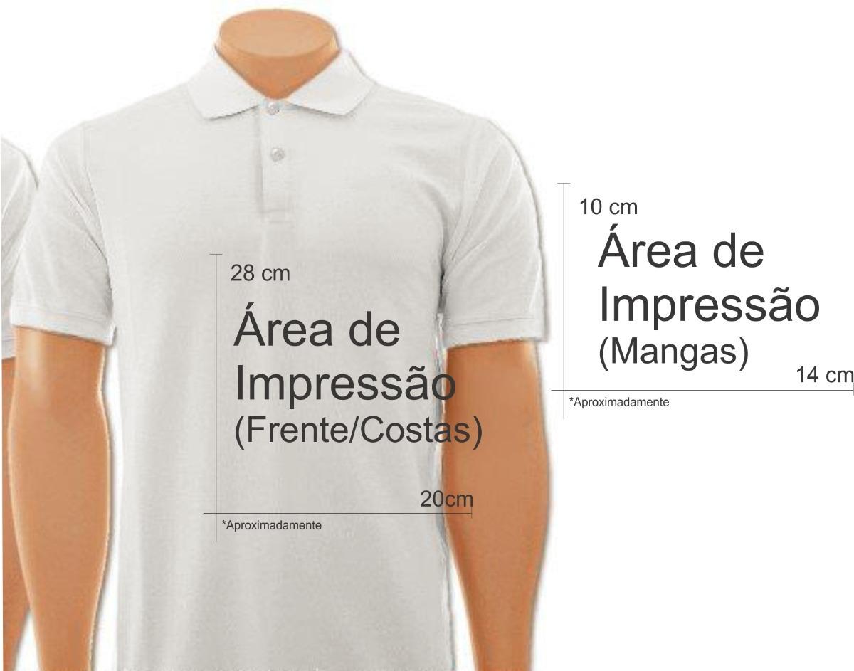 ea0586f804 ... camisetas personalizadas gola polo branca. Carregando zoom.