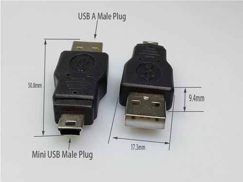 kit com 20 conectores usb a macho/mini usb 5p 30474