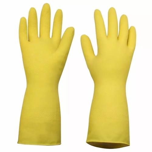 kit com 20 pares luva látex sanro multiuso amarela tamanho g