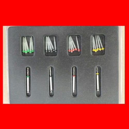 kit com 20 pinos de fibra e 4 brocas para perfeita adaptaçao