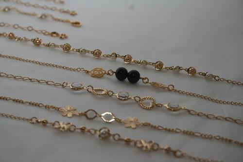 kit com 20 pulseiras folheadas a ouro atacado para revender