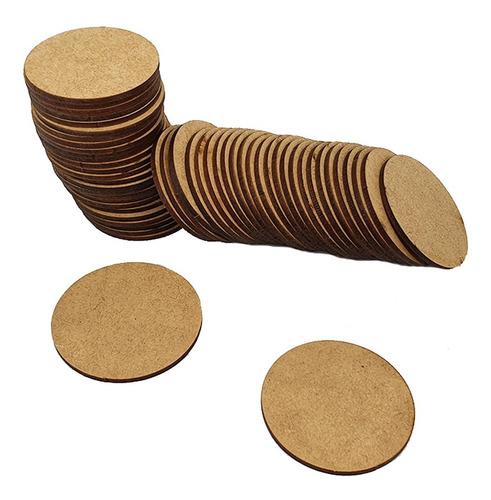 kit com 200 bolachas 10x10 mdfcrú círculos sousplast aplique