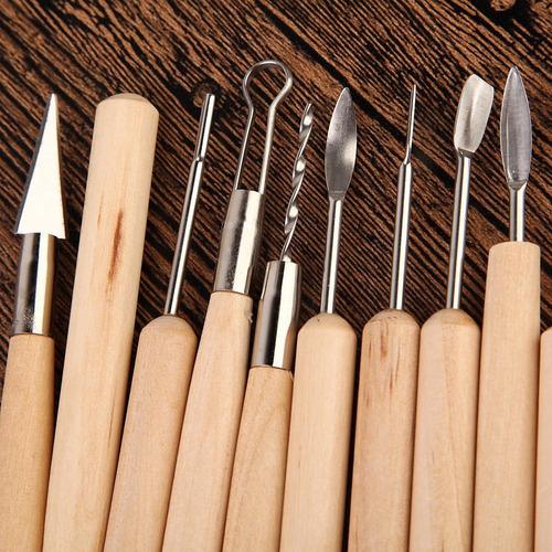 kit com 22 ferramentas estacas argila clay plastilina+brinde
