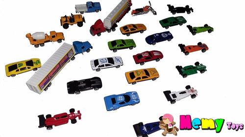 kit com 25  carrinhos & caminhoes de metal