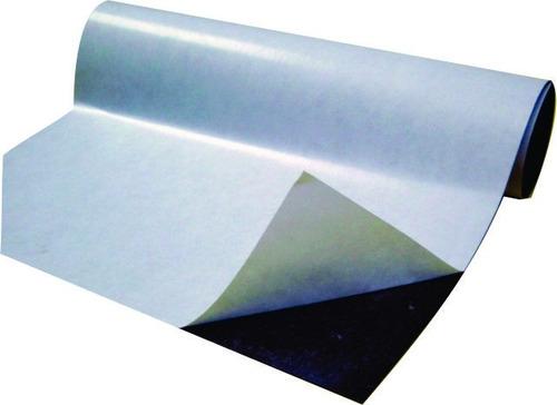 kit com 25 folhas manta magnética adesivada  a4 0,3mm