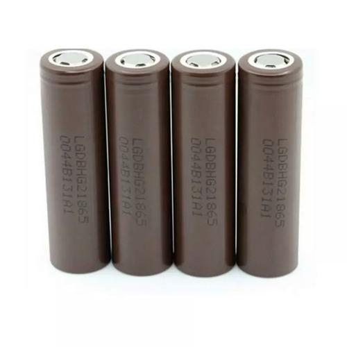 kit com 2x bateria recarregável lg hg2 18650 3.7v 1500mah