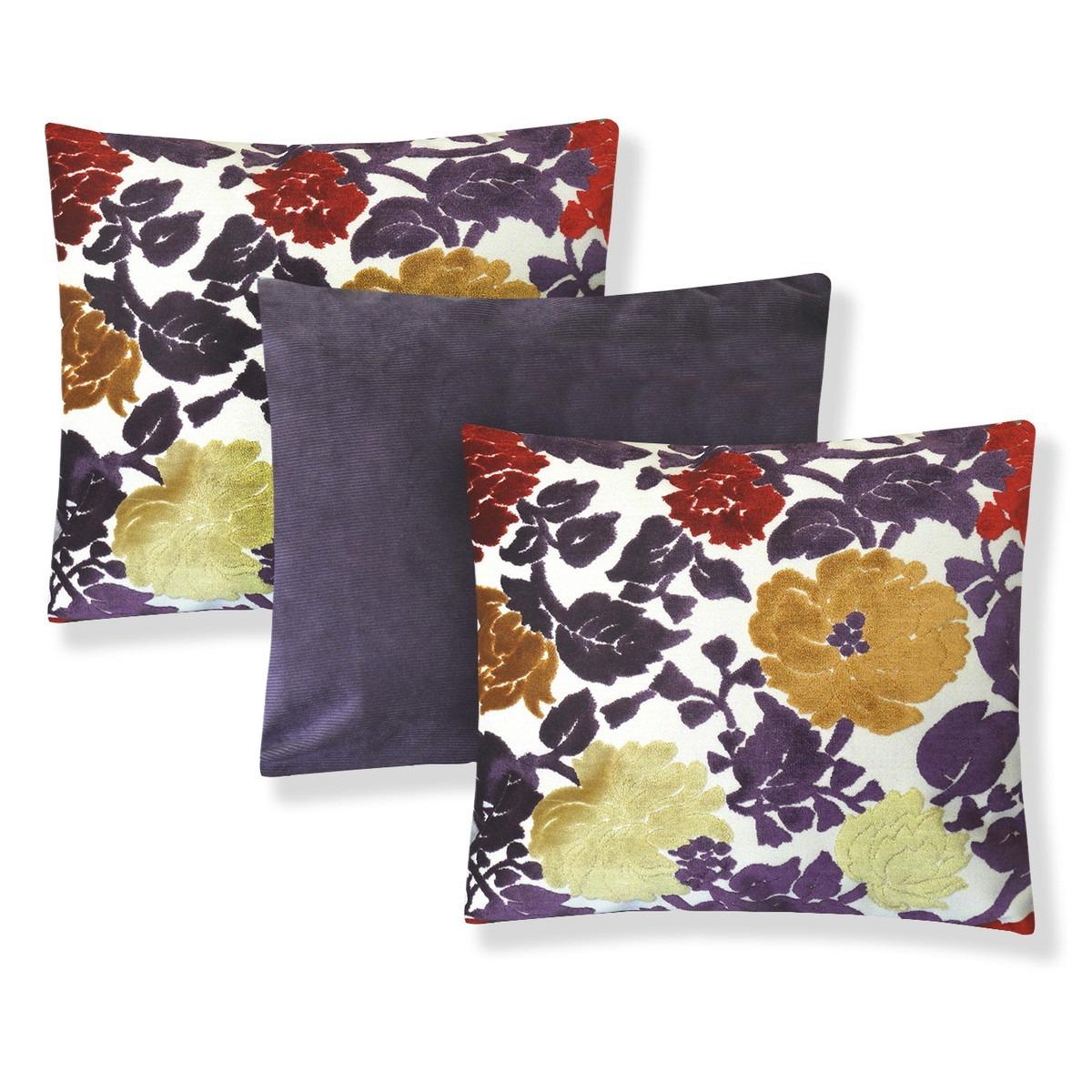 e420dbcfadda4a Kit Com 3 Almofadas Decorativas Para Sala Sofá 45x45 Floral