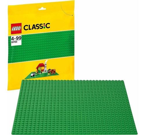 kit com 3 base lego verde - lego classic 10700