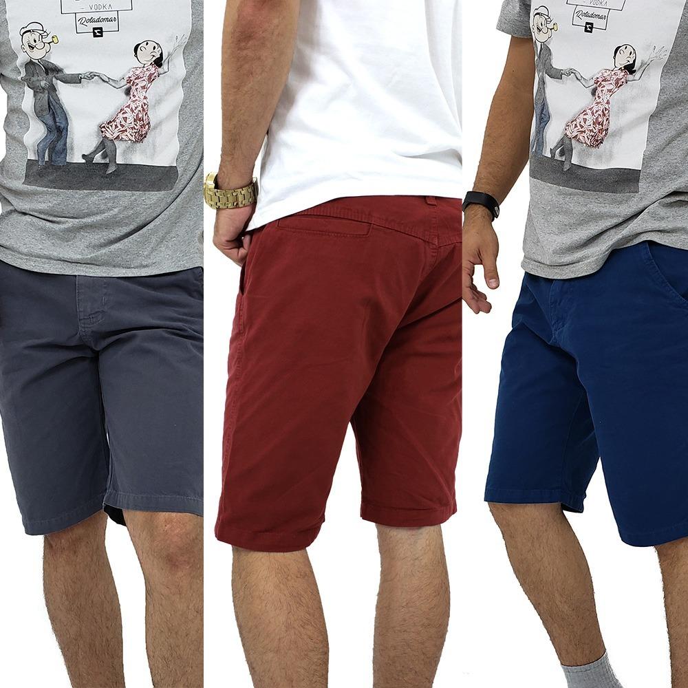 Bermudas masculinas coloridas brim sarja baratas carregando zoom jpg  1000x1000 Bermudas masculinas coloridas 044da08edca