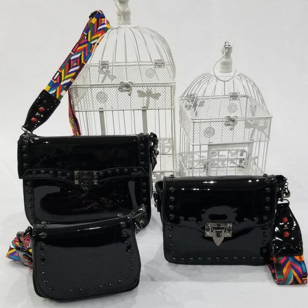 df552a520 Kit Com 3 Bolsas Inspired Valentino Transversal Colorida - R$ 199,90 ...