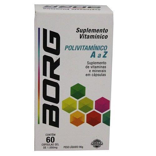 daa590bb8d09b Kit Com 3   Borg Vitaminas De A A Z 60 Capsulas - R  119