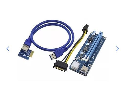 kit com 3 cabos riser rig mineração pci-express 16x