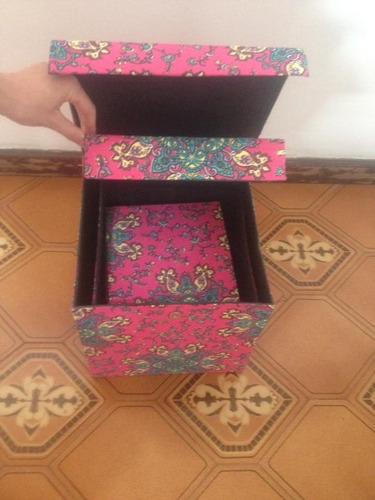 kit com 3 caixas organizadoras - cartonagem