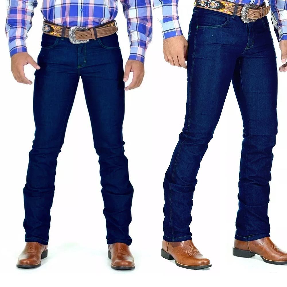df75bb77ca702 Kit Com 3 Calça Jeans Masculina Moda Country Lycra - R  179